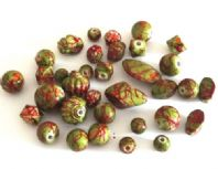 50g (20pcs) Acrylic Mixed shape Beads 10-24mm